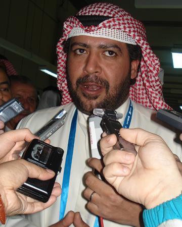 艾哈迈德造访新闻中心 期待多哈早日承办奥运会