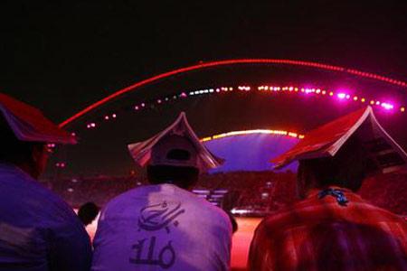 图文:多哈亚运开幕式 天马夜行空艳惊观众