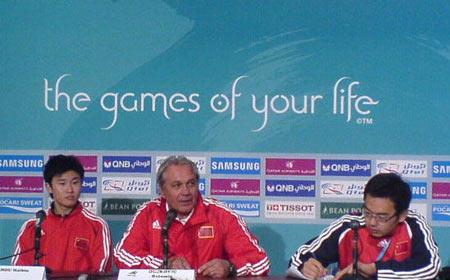 图文:国奥队3-1马来西亚 赛后举行新闻发布会