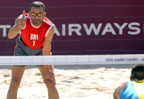 沙滩排球小组赛 巴林0 2败给哈萨克斯坦