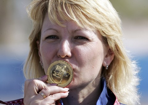 图文:亚运女子50米步枪卧射 多夫冈获得冠军