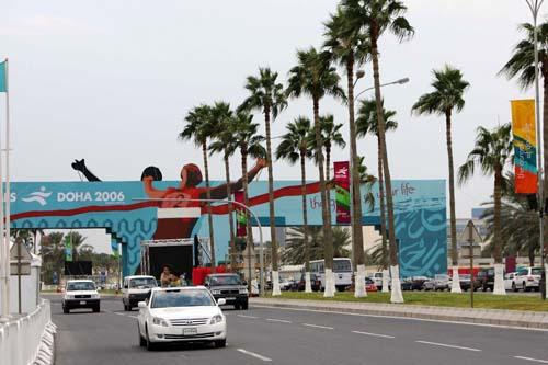 图文:多哈亚运会花絮图片 为迎接亚运街景改观