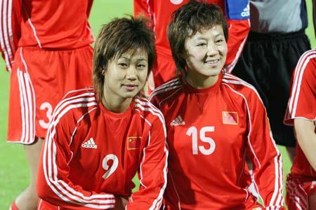 独家图片:中国女足12-0大胜约旦 两