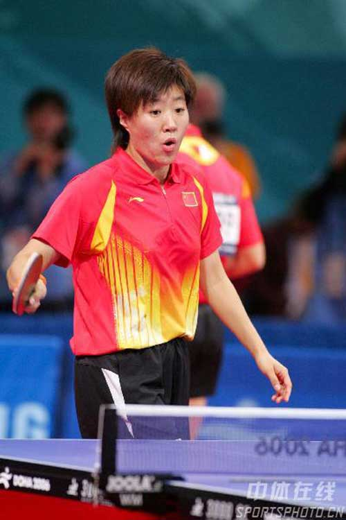 图文:乒乓球混双女单战况 马龙/郭焱在比赛