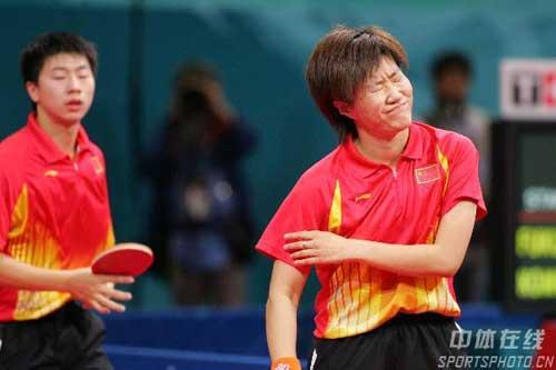 图文:乒乓球混双女单战况 马龙/郭焱比赛失利