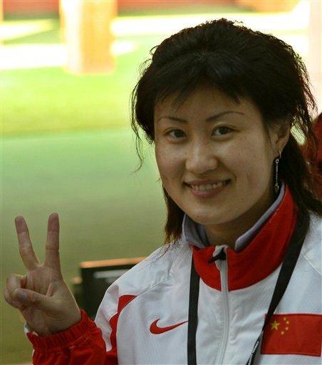 图文:射击女子25米手枪决赛 陈颖792.2环夺冠