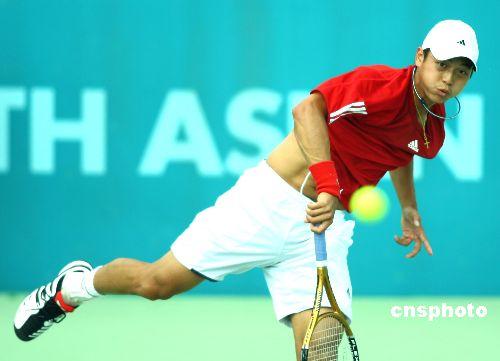 图文:网球男子团体赛 中国台北克菲律宾进四强