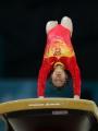 图文:亚运体操女子跳马比赛 程菲比赛瞬间