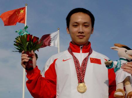 图文:多哈亚运会 甘霖男子移动靶个人赛夺金