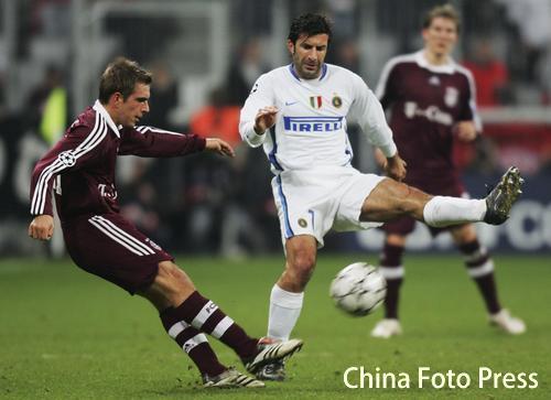 图文:拜仁主场迎战国际米兰 菲戈是国米的宝