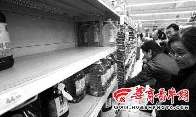 西安粮油涨价趋稳 一旦涨幅过高政府将干预(图)