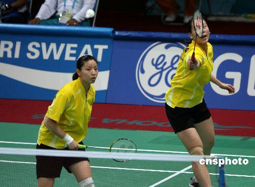 图文:羽毛球女团中国队夺冠 张洁雯比赛中