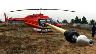 湖南长沙直升机带电水冲洗国家电网