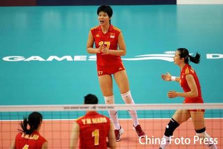 图文:亚运会女子曲棍球循环赛 中国VS韩国