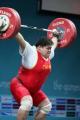 图文:举重女子75以上公斤级 穆爽爽打破记录