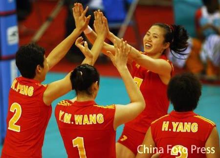 中国女排3-0胜中国台北 亚运会小组赛取三连胜