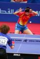 图文:亚运会乒乓球女单半决赛 比赛进行中