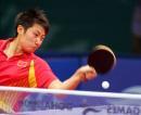 图文:亚运会乒乓球女单半决赛 郭跃奋力回球