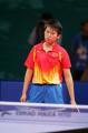 图文:亚运会乒乓球女单半决赛 郭跃在思考