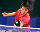图文:亚运会乒乓球女单半决赛 郭跃正手推挡