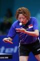 图文:亚运会乒乓球女单半决赛 李佳薇在发球