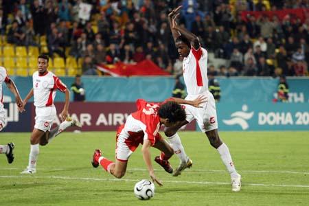 独家图片:朱挺赢得点球 国奥队2-1领先于阿曼