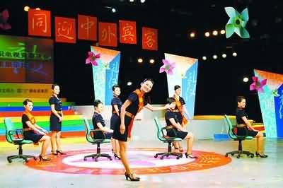 厦门市地税局代表队在行业礼仪上表展示v行业风采演情景剧《纳税人之香港电视剧吕四娘的扮演者是谁图片