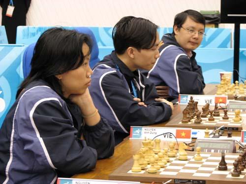 图文:国象团体赛第二轮 越南队胜哈萨克斯坦队