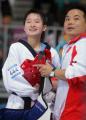图文:女子跆拳道47公斤级 吴静钰美丽的笑容
