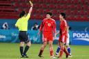 独家图片:中国女足小负日本 裁判严对中国队员