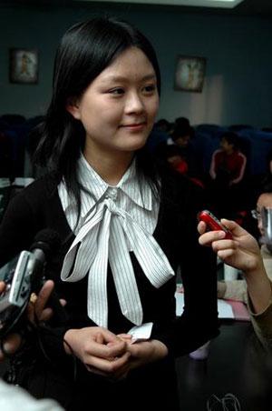 7日,北京师范大学心理学院大四女生吴莹莹接受媒体的采访-北师大21