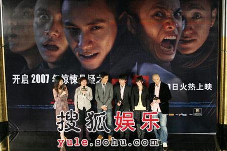 李少红开启新年惊悚《门》携主演亮相京城(图)