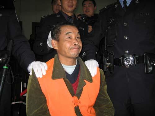 图文:邱兴华在二审现场