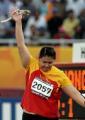 图文:女子链球张文秀夺冠 74.15m破亚洲纪录