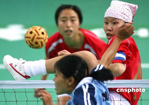 亚运:亚运女子藤球赛 中国队2-0轻取印度队