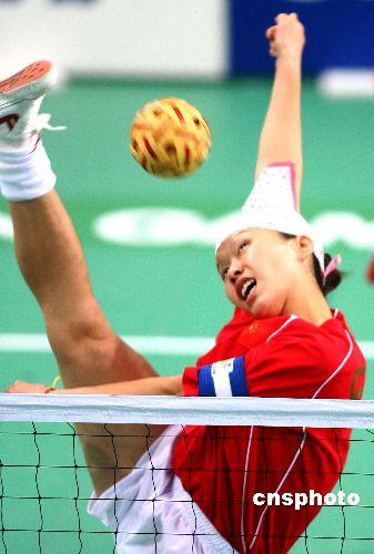 亚运:亚运女子藤球大战 中国2-0轻取印度队