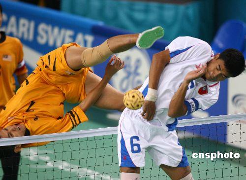 图文:亚运会男子藤球 马来西亚队2-0胜缅甸队
