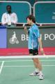 图文:亚运羽毛球男单半决赛 李炫一有点失望