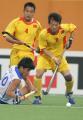 图文:亚运会中国男曲0-3韩国 中国队抢断成功