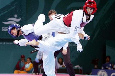 图文:跆拳道男子58公斤级 韩国选手刘泳大夺金