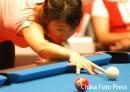 资料图:周萌萌参加03年亚洲女子花式台球9球赛