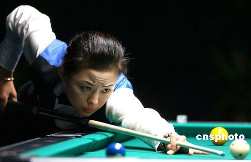 潘晓婷/亚运台球:潘晓婷在比赛中