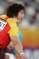 图文:亚运会女子铅球决赛 李梅菊的怒吼