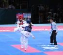 独家图片:跆拳道女子72kg级决赛 中国罗微夺冠