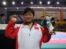 独家图片:跆拳道女子72KG级决赛 罗微拼得金牌