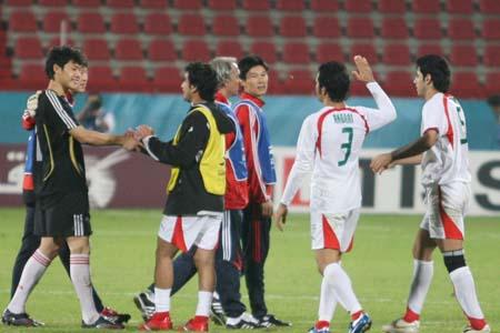 独家图片:国奥点球大战负伊朗 对手安慰王大雷
