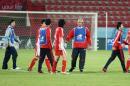 独家图片:国奥点球大战负伊朗 赛后杜伊很平静