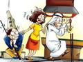 亚运搞笑四格漫画