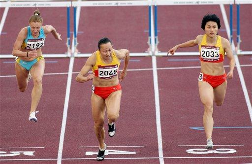 刘静冯云扬威田径赛场 包揽女子100米栏冠亚军