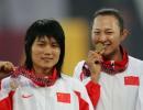 图文:亚运会女子100米栏决赛 冯云和刘静